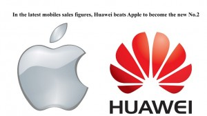In the latest mobiles sales figures, Huawei beats Apple to become the new No.2