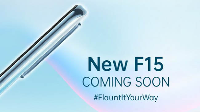 On 16 January, Oppo F15 announced its launch