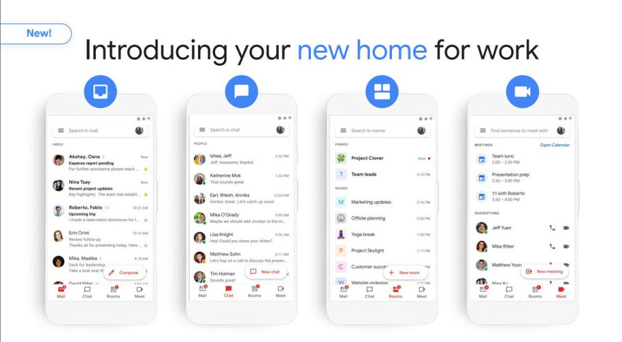 Gmail also has Google Chat and Rooms in one app, which is open to all users.