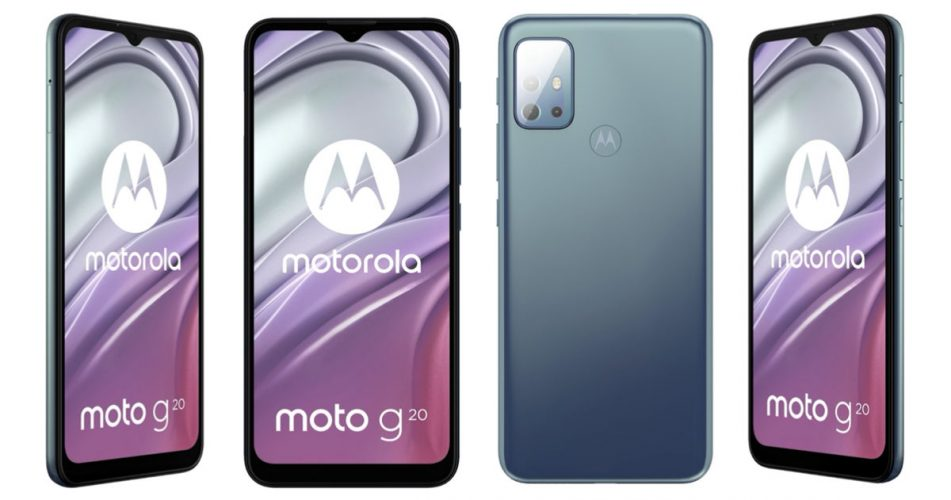 The Moto G20 specifications and renders have surfaced on the internet, and the device could be priced under Rs. 10,000
