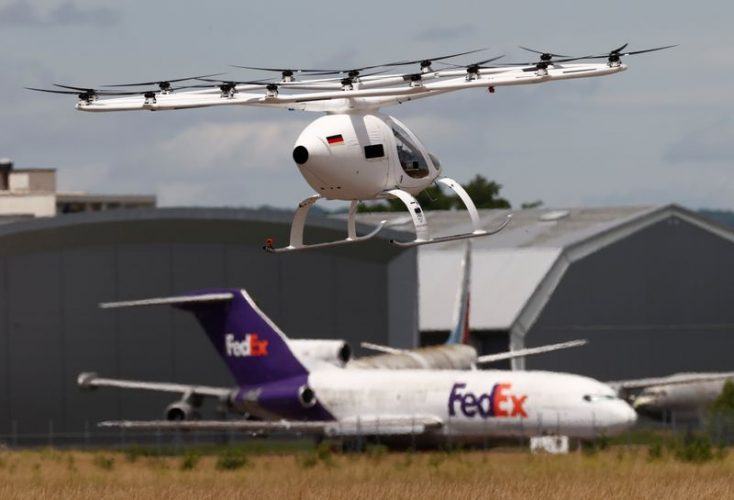 The Volocopter makes its first air taxi flight, with the goal of being operational for the 2024 Olympic Games in Paris