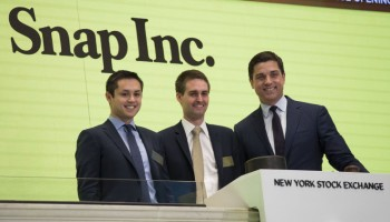Snapchat stock finishes up 44% on first day